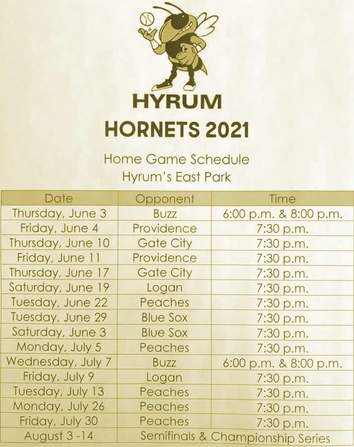 Hyrum Schedule 2021